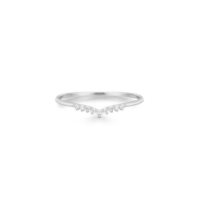 Aurelie Gi Frost Curved Diamond Ring