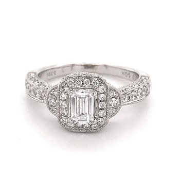 Vintage Inspired Emerald Cut Ring