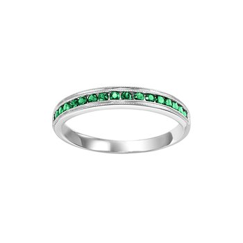 Emerald Mixable Birthstone Rings in 4 Styles