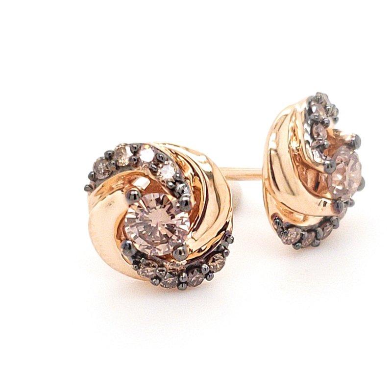 Sartor Hamann Closeouts Le Vian Chocolate Diamond Earrings