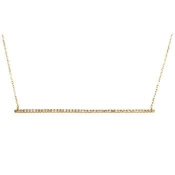 Diamond Bar Pendant