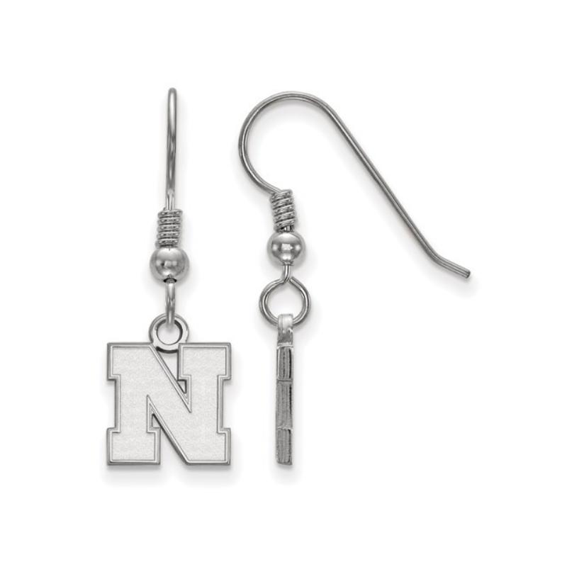 """Husker Jewelry Collection Husker """"N"""" Dangle Earrings"""