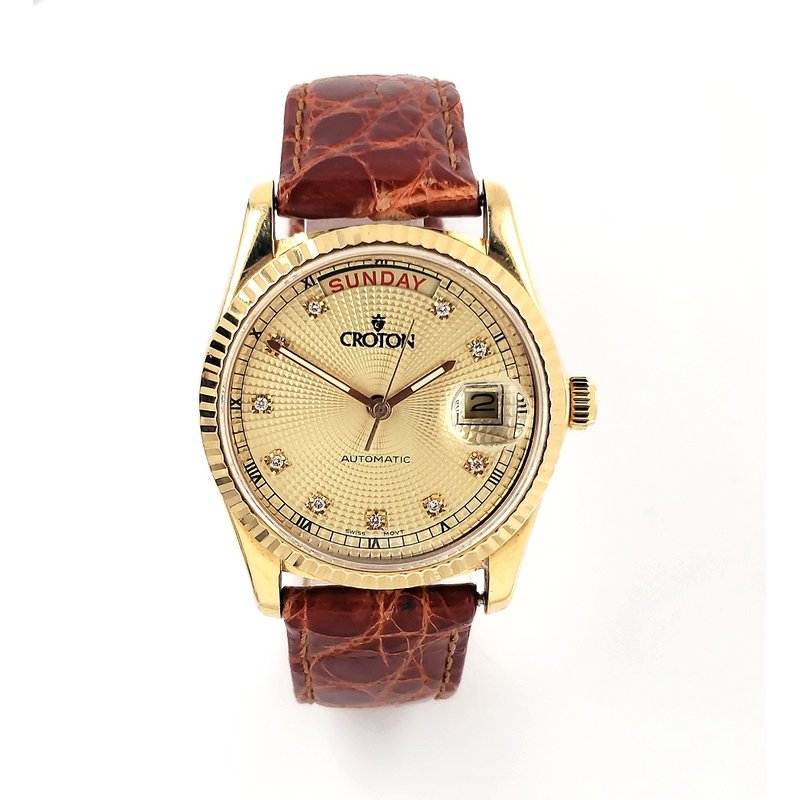 Estate Collection Gold Croton Watch
