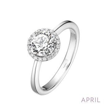 Lafonn Sterling Silver Birthstone Ring