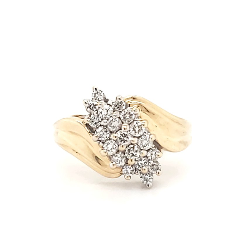 Estate Collection Diamond Waterfall Ring