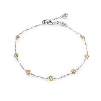 "Lafonn Sterling Silver 2-Tone Adjustable Bracelet - 7.5"""