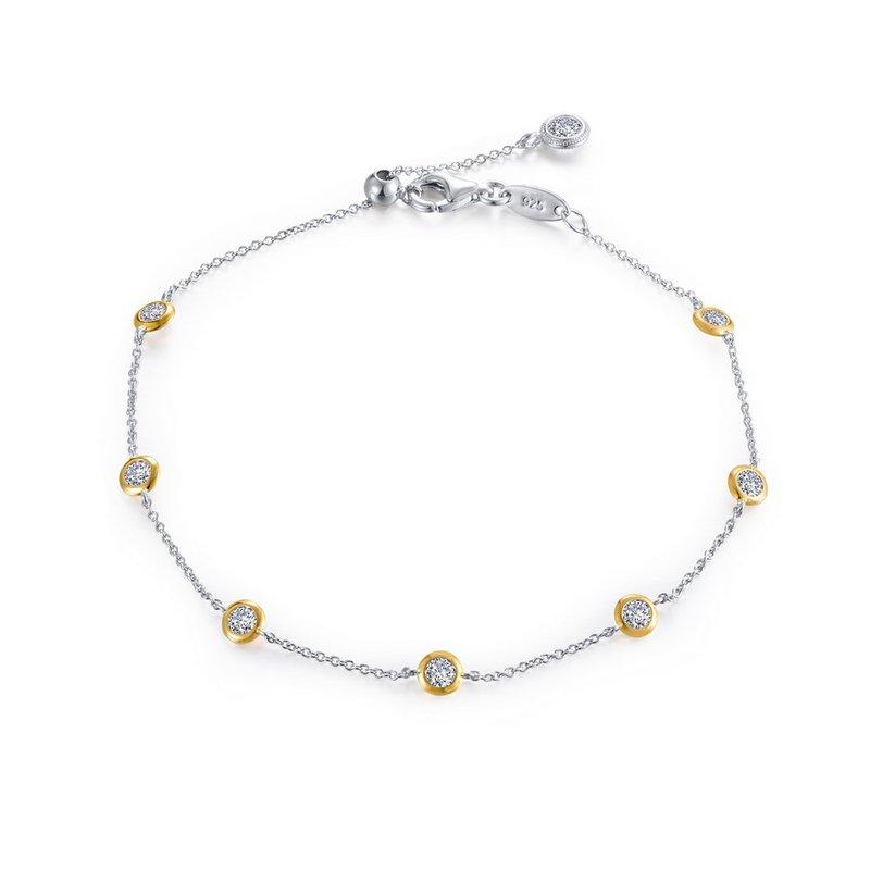 "Sartor Hamann Signature Lafonn Sterling Silver 2-Tone Adjustable Bracelet - 7.5"""