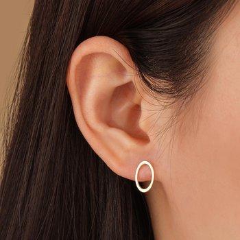 Irene Open Oval Earrings