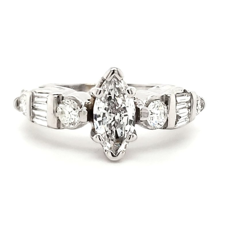 Estate Collection Marquise Engagement Ring
