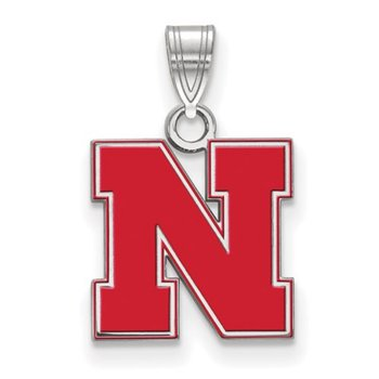 "Small Red Husker ""N"" Pendant"