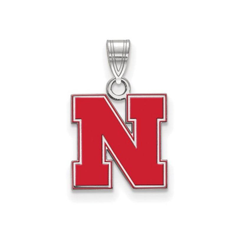 """Husker Jewelry Collection Small Red Husker """"N"""" Pendant"""