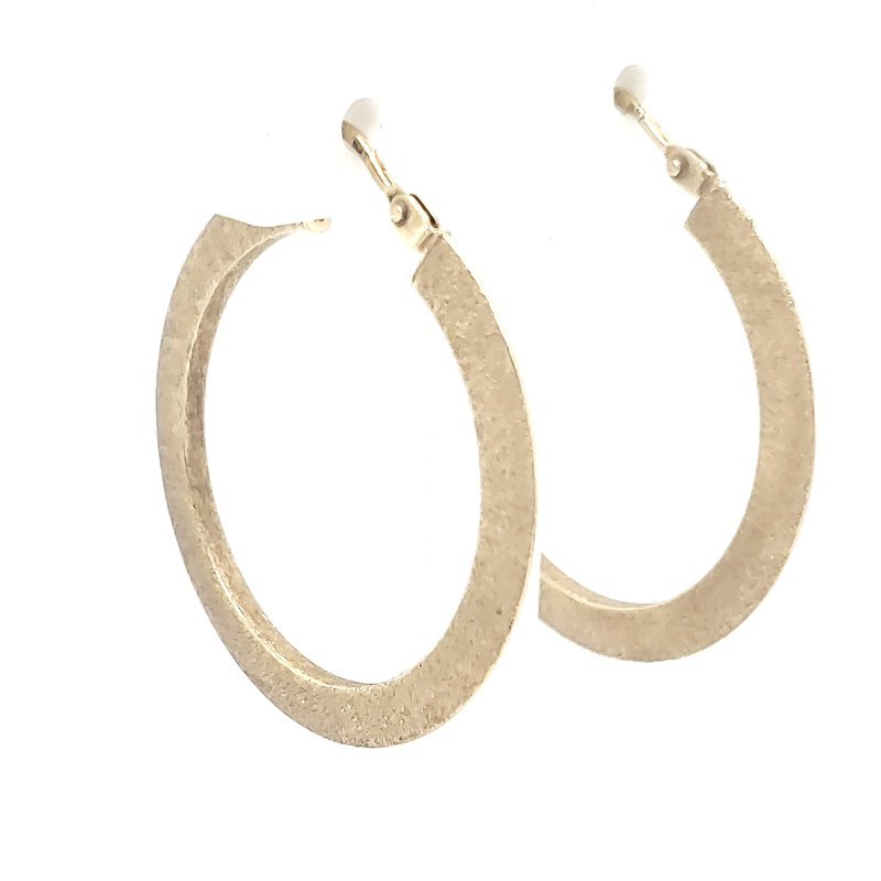 Estate Collection Brushed Gold Hoops