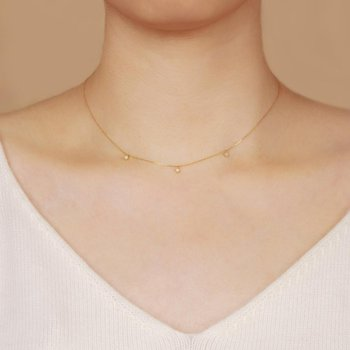 Flora Triple Opal Necklace