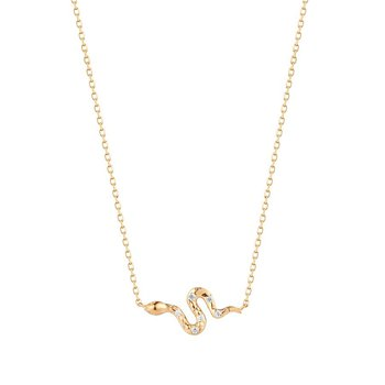 Nefertiti Diamond Snake Necklace