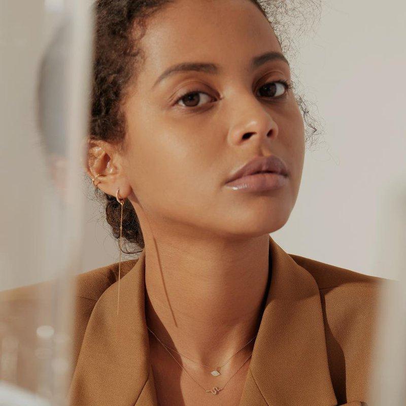 Aurelie Gi Nefertiti Diamond Snake Necklace