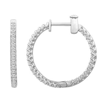 Diamond Hoops - Lab Created 1/2 CT to 4 CT T.W.