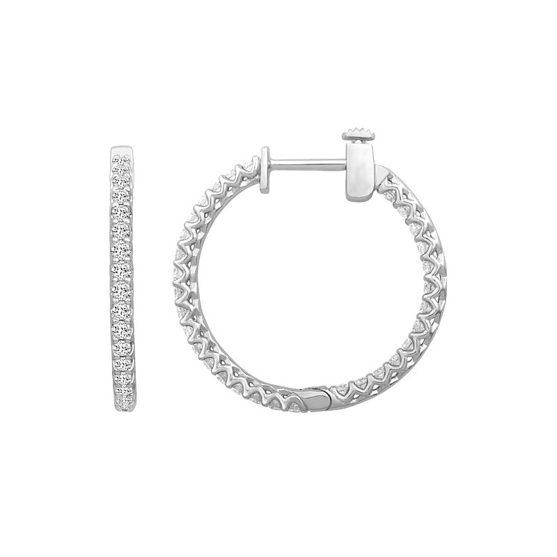 Sartor Hamann Signature Diamond Hoops - Lab Created 1/2 CT to 4 CT T.W.