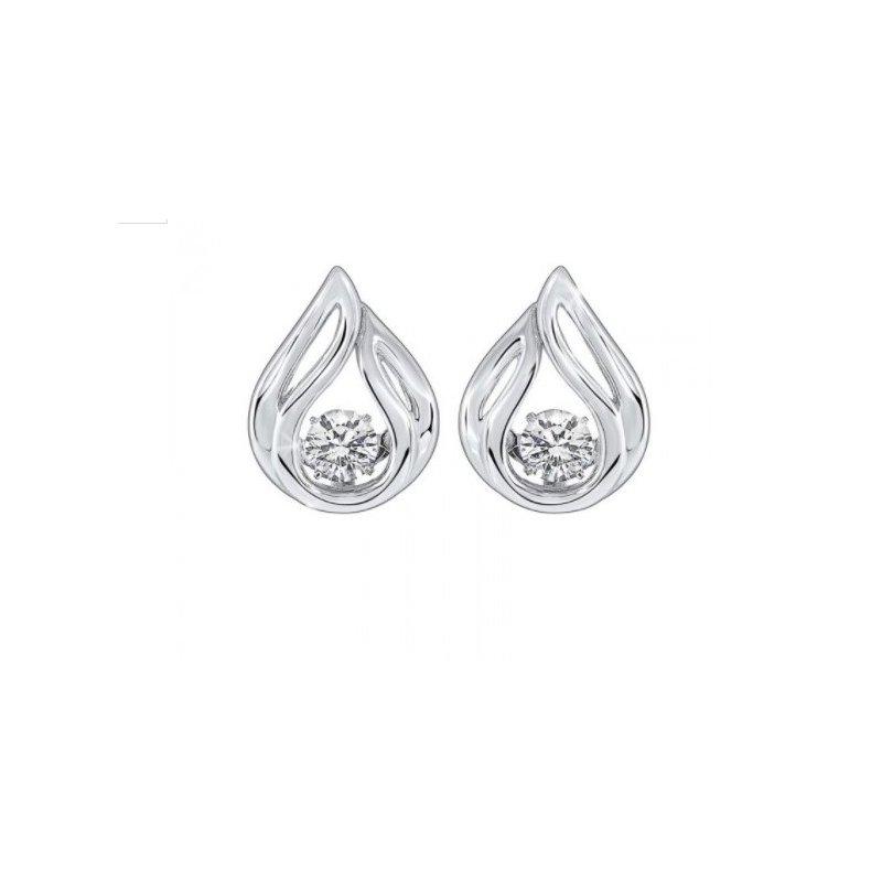 Sartor Hamann Signature Silver Teardrop Earrings