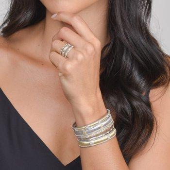 Sterling Silver & 18K Gold Stacker Ring