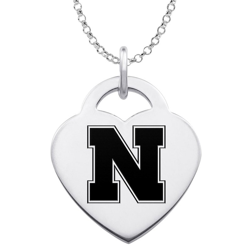 """Husker Jewelry Collection Husker """"N"""" Heart Pendant"""