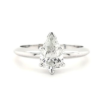 1.06 CT Pear Shape Solitaire
