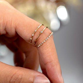 Delia Half-Eternity Diamond Ring