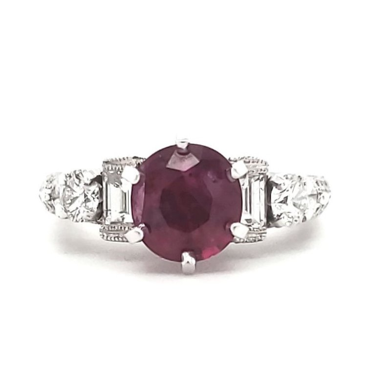Estate Collection Ruby and Diamond Ring