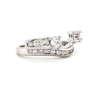 Diamond Jacket Wedding Ring