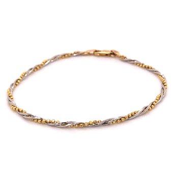 Two Tone Bead Bracelet