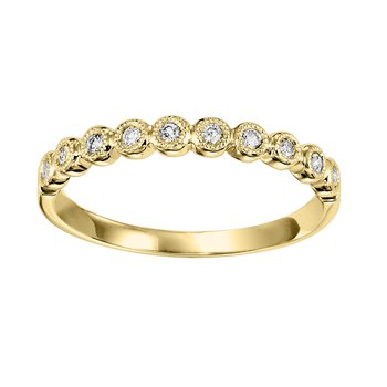 14K Diamond Mixable Ring