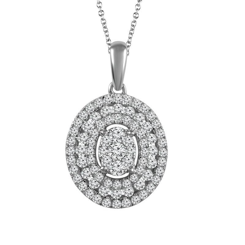 Sartor Hamann Signature Diamond Oval Pendant