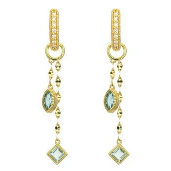 18K Gold Topaz Earring Charms