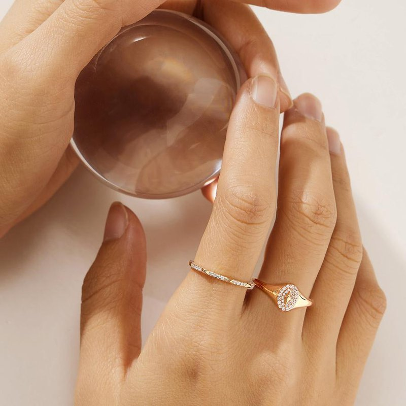 Aurelie Gi Galactica Diamond Polaris Ring