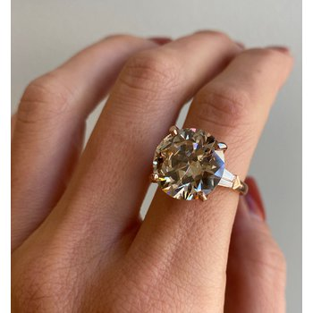 9.80 CT T.W. Champagne Diamond Engagement Ring