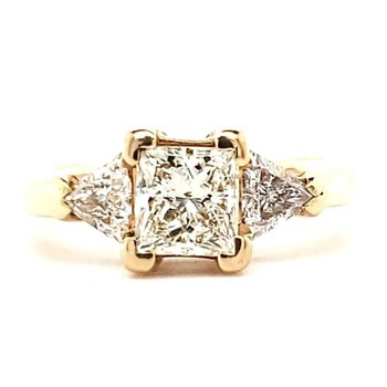 Princess and Trillion Diamond Ring