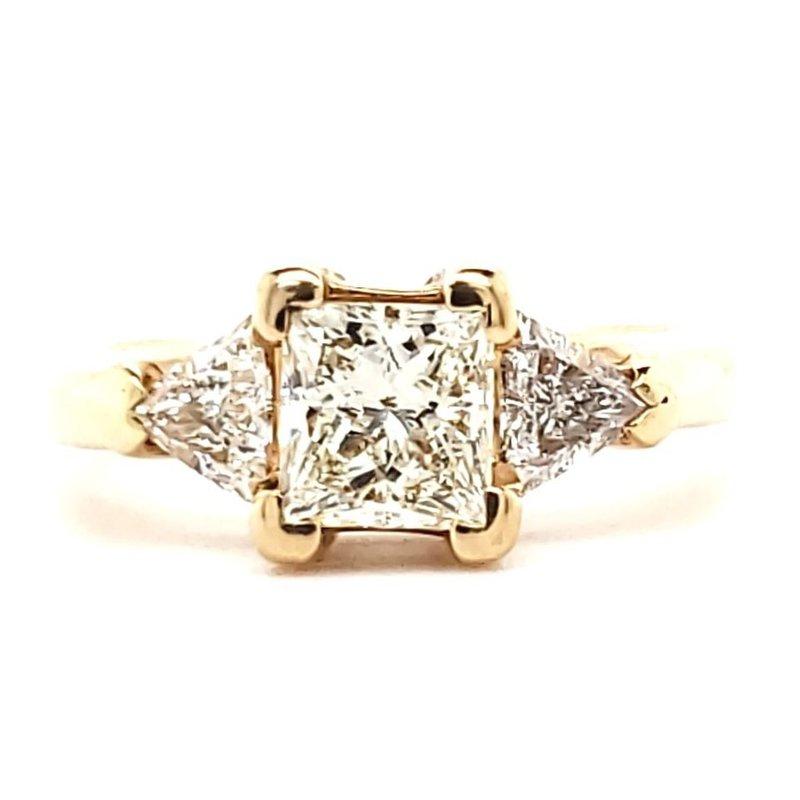 Estate Collection Princess and Trillion Diamond Ring