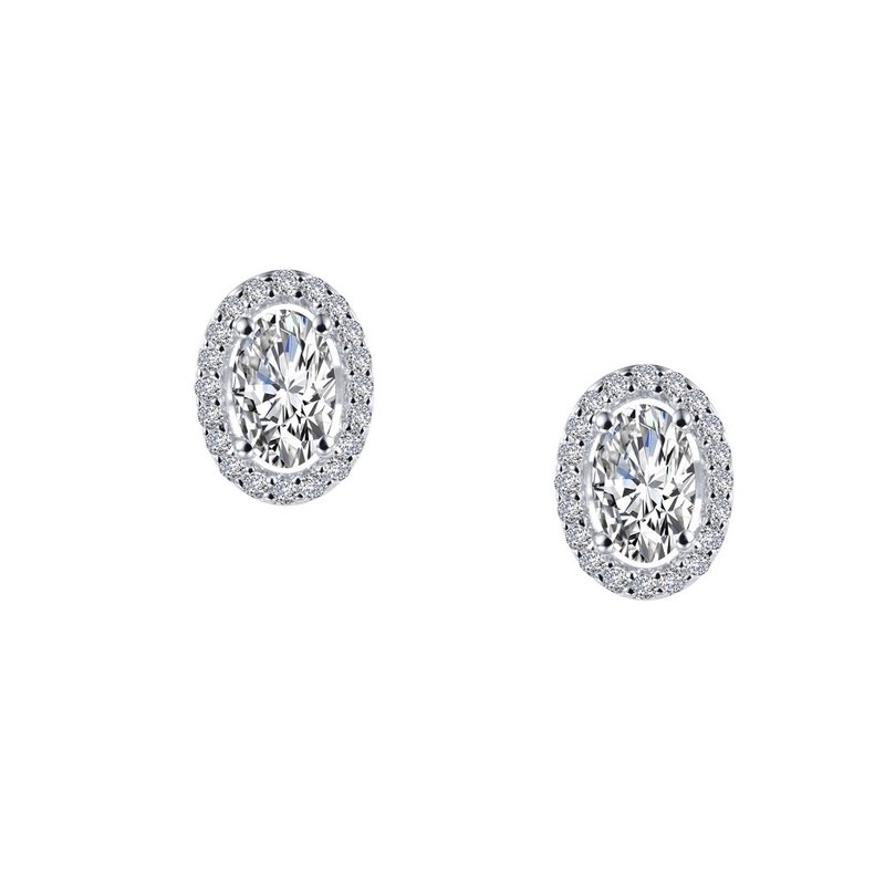 Sartor Hamann Signature Lafonn Sterling Silver Halo Stud Earrings