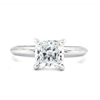 1.30 CT Square Radiant Solitaire