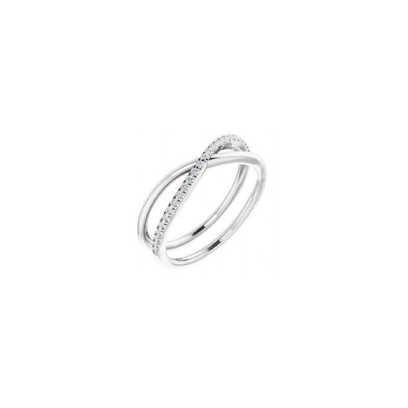 Sartor Hamann Signature 14K White Gold Diamond Ring