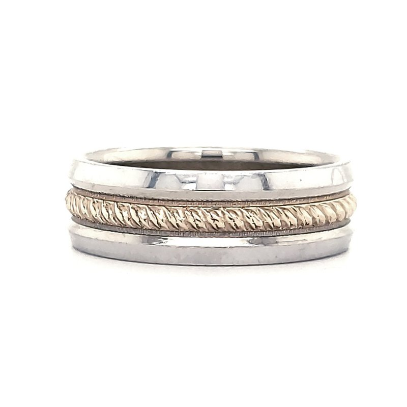 Estate Collection Two Toned Rope Band
