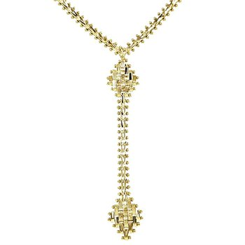 Diamond Cut Drop Necklace