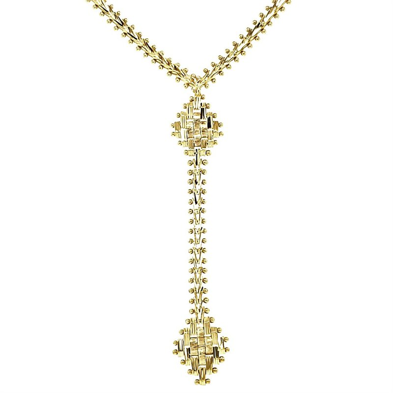 Estate Collection Diamond Cut Drop Necklace