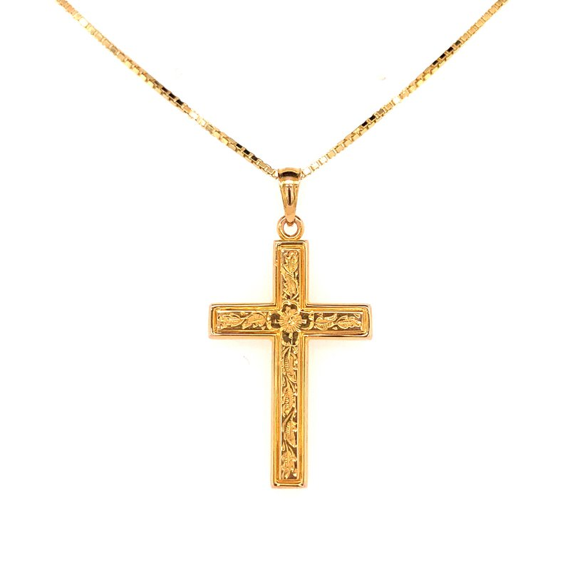 Estate Collection Floral Cross Pendant