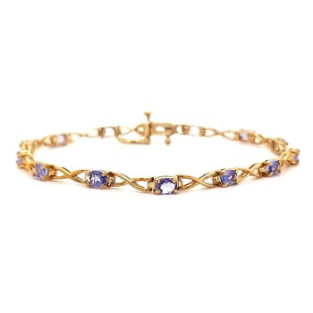 Yellow Gold and Tanzanite Bracelet