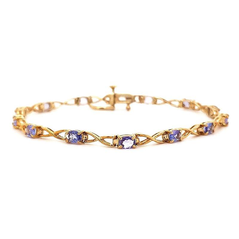 Estate Collection Yellow Gold Tanzanite Bracelet