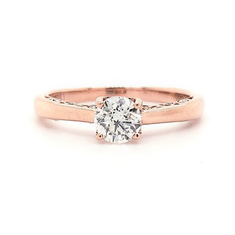 Estate Collection Rose Gold Engagement Ring