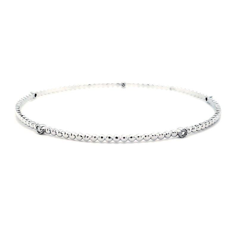 Sartor Hamann Closeouts White Gold Stackable Diamond Bangle Bracelet