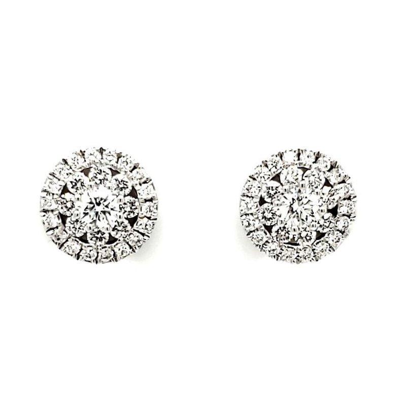 Sartor Hamann Closeouts Diamond Cluster Earrings
