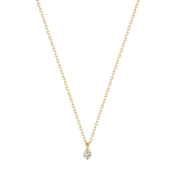 Esme Floating Diamond Solitaire Necklace