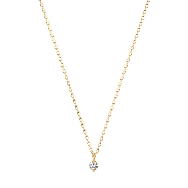 Aurelie Gi Esme Floating Diamond Solitaire Necklace